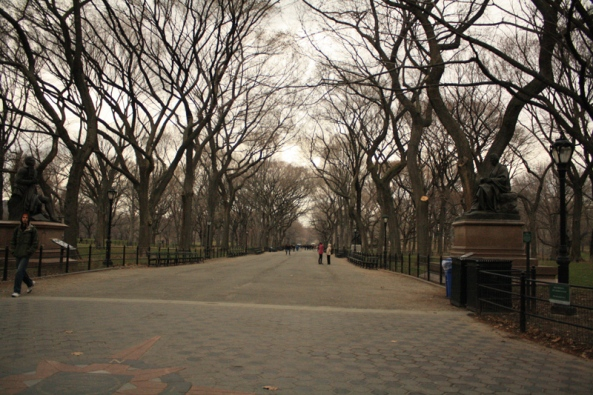 The Mall, Central Park, New York, NY., 15th March 2011. © J. Lynn Stapleton