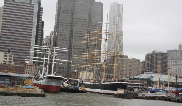 Tall Ships at Pier 17. New York, NY, 10th March 2011. © J. Lynn Stapleton