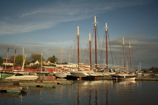 Tall ship schooners Merchantile (left) and Grace Bailey (right), Camden, ME. © J. Lynn Stapleton