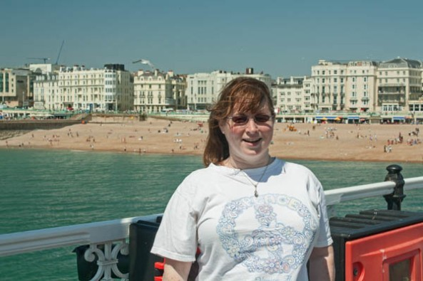 Me on Brighton Pier. © J. L. Stapleton. 18th March 2013