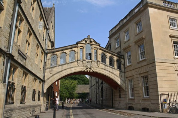 Bridge of Sighs, Oxford, UK. © J. Lynn Stapleton, 22nd July 2013