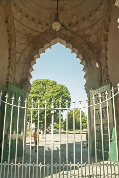 The Royal Pavilion Park Entrance. © J. L. Stapleton. 18th March 2013