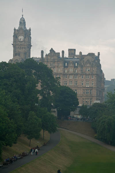 Balmoral Hotel in the distance, © J. Lynn Stapleton, 25th July 2013
