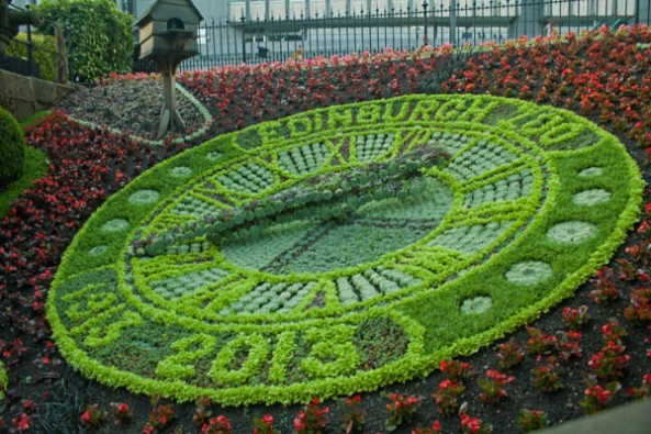 Edinburgh Flower Clock, Princes St. Gardens, Edinburgh, UK. © J. Lynn Stapleton, 25th July 2013