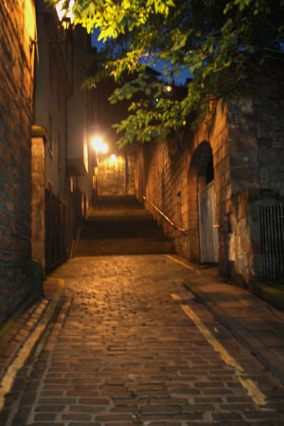 Stairway to Johnston Terrace, Edinburgh, UK. © J. Lynn Stapleton, 25th July 2013