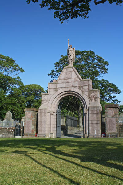 Cemetery Entrance at St. Magnus Cathedral, Kirkwall, Orkney. © J. Lynn Stapleton, 27th July 2013