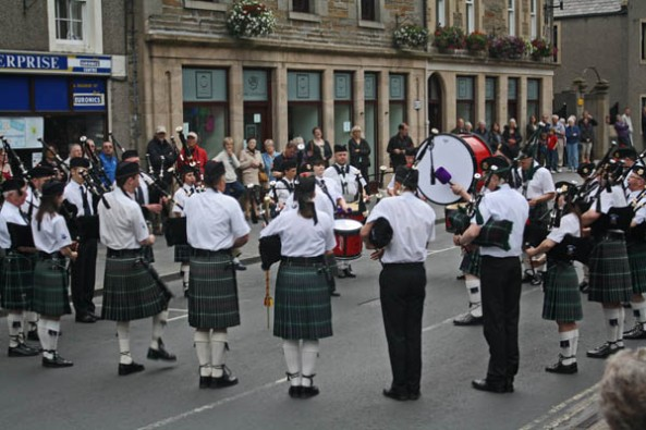 Kirkwall City Pipe Band, Kirkwall, Orkney. © J. Lynn Stapleton, 27th July 2013