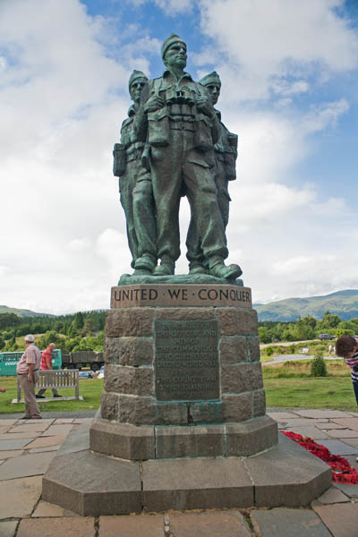 Commando Monument, Lochaber Scotland, UK © J. Lynn Stapleton, 26th July 2013