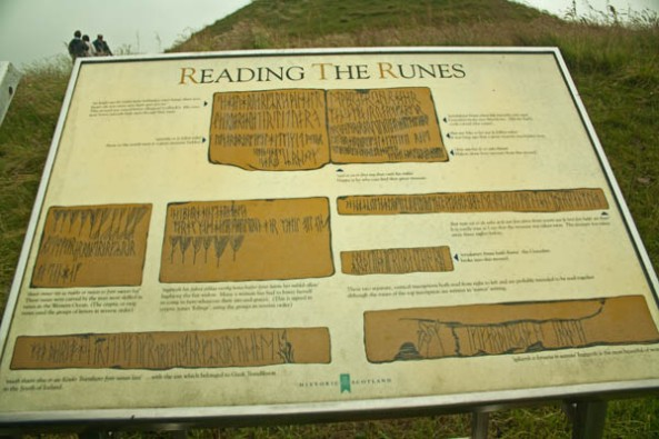Norse Runes, Maeshowe Burial Chamber, West Mainland, Orkney. © J. Lynn Stapleton, 28th July 2013