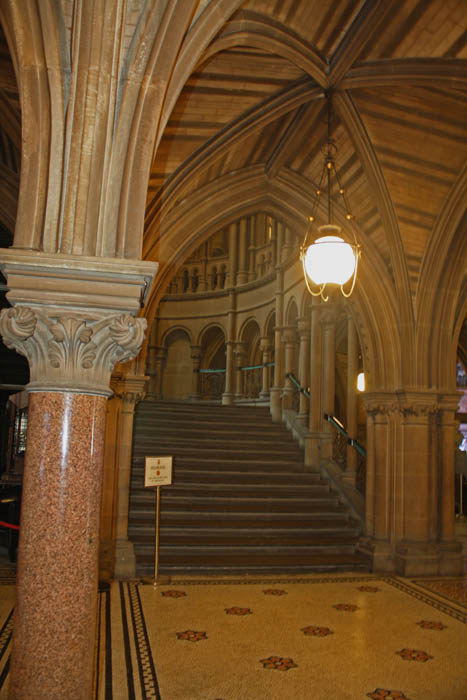Lobby Staircase, Manchester Town Hall, Manchester, UK. © J. Lynn Stapleton, 24th July 2013