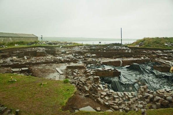 Ness of Brodgar Excavation Site, Orkney mainland. © J. Lynn Stapleton, 28th July 2013
