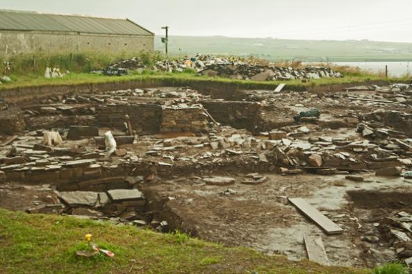 Ness of Brodgar, Orkney mainland. © J. Lynn Stapleton, 28th July 2013