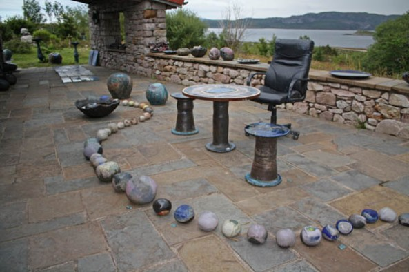 Lotte Glob's Ceramic Studio, Loch Eriboll, Sutherland. © J. Lynn Stapleton,  29th July 2013