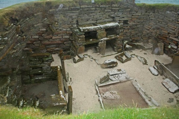 Skara Brae, Orkney mainland. © J. Lynn Stapleton, 28th July 2013