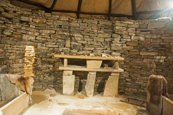 Skara Brae Replica House, Orkney mainland. © J. Lynn Stapleton, 28th July 2013