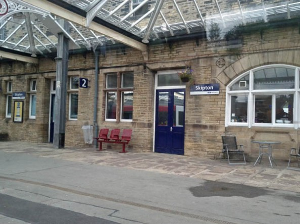 Skipton Train Station, © J. Lynn Stapleton, 24th July 2013