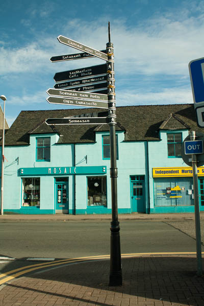 Street sign, Stornoway, Isle of Lewis. © J. Lynn Stapleton, 31st July 2013