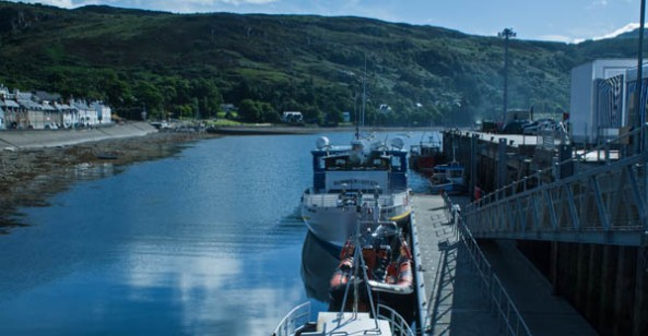Ullapool docks. © J. Lynn Stapleton, 30th July 2013