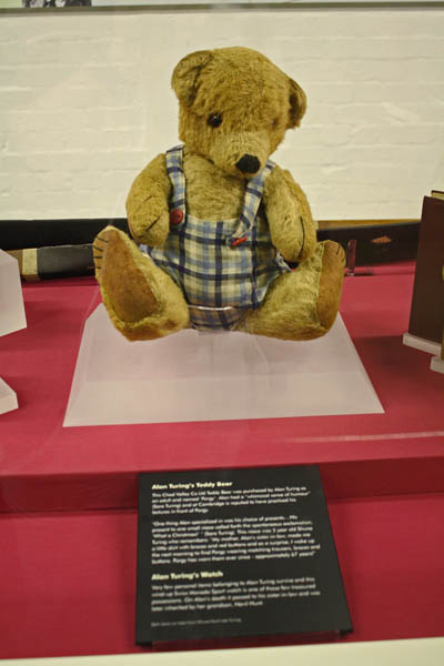 Alan Turing Teddy Bear, Bletchley Park Museum, Milton-Keynes, UK. © J. Lynn Stapleton, 6th August 2013
