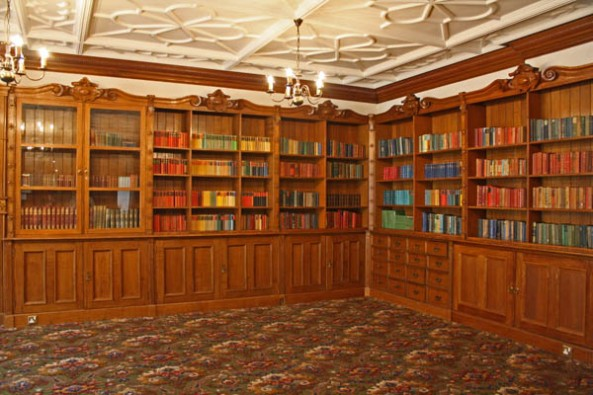 Library, Bletchley Park Mansion, Milton-Keynes, UK. © J. Lynn Stapleton, 6th August 2013