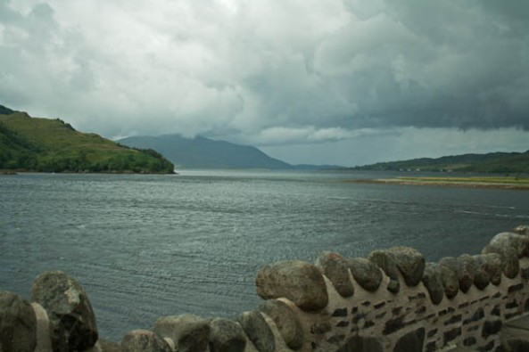 View from Eilean Donan Castle, Dornie, Kyle of Lochalsh, Scotland. © J. Lynn Stapleton, 4th August, 2013