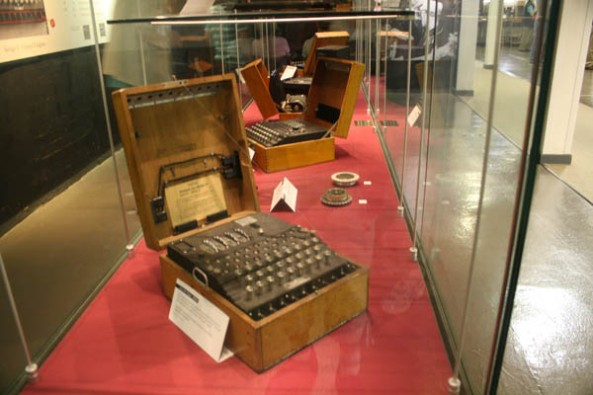 Enigma Cypher Machine, Bletchley Park Museum, Milton-Keynes, UK. © J. Lynn Stapleton, 6th August 2013