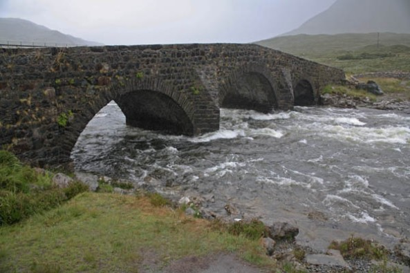 Sligachan Bridge, Sligachan, Isle of Skye. © J. Lynn Stapleton, 3rd August 2013