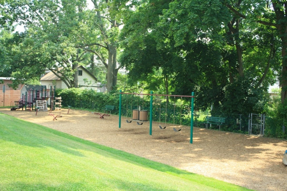 Playground by ball park, Peapack, NJ, 6th July 2011. © J. Lynn Stapleton