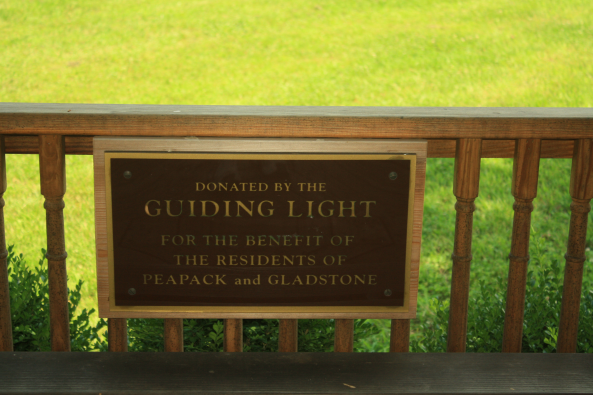 Donated GL Gazebo plaque, Peapack, NJ, 6th July 2011. © J. Lynn Stapleton